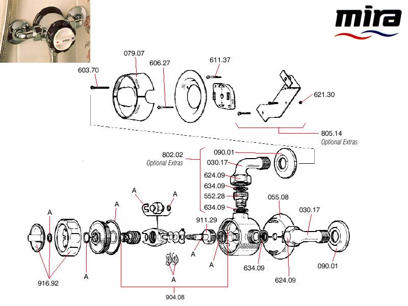 Mira 8 1964 1984 Shower Spares And Parts Mira Mira 8