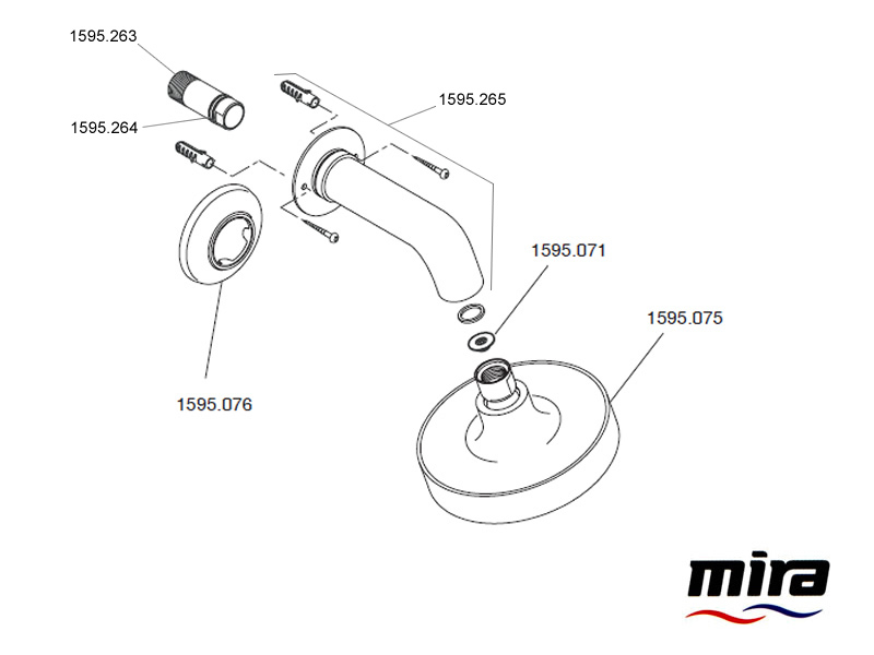 Shower Spares For Mira Discovery Bir Shower Head Mira