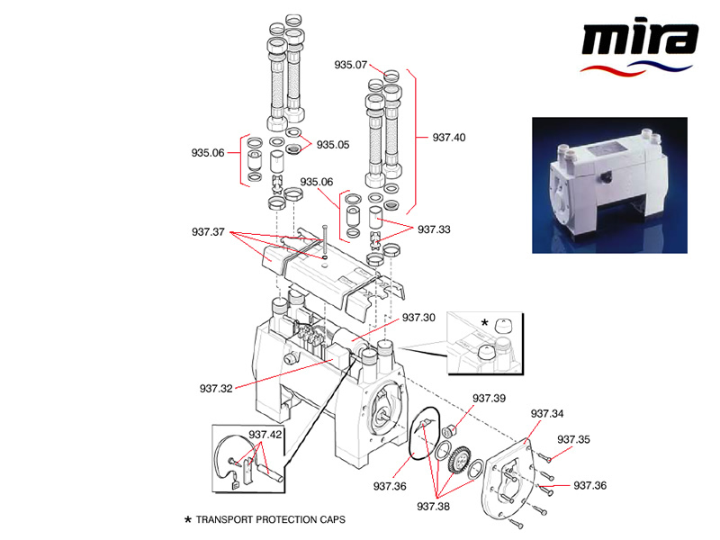 Mira PPT3 shower spares and parts | Mira PPT3 | National Shower Spares