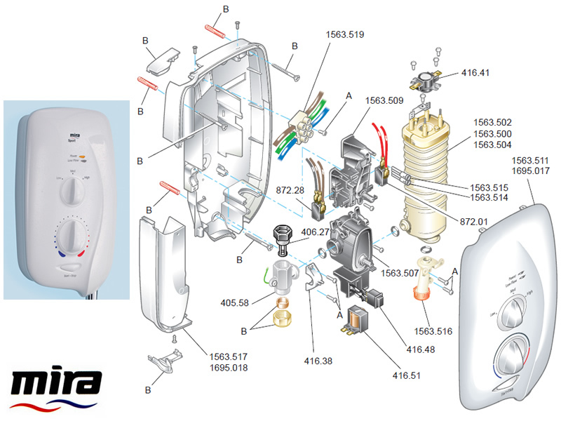 Mira Sport 2006 2012 Shower Spares And Parts Mira