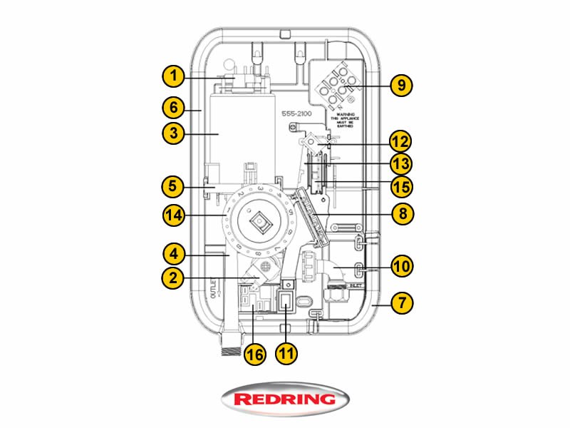 Redring Expressions 500S Spares Breakdown Diagram