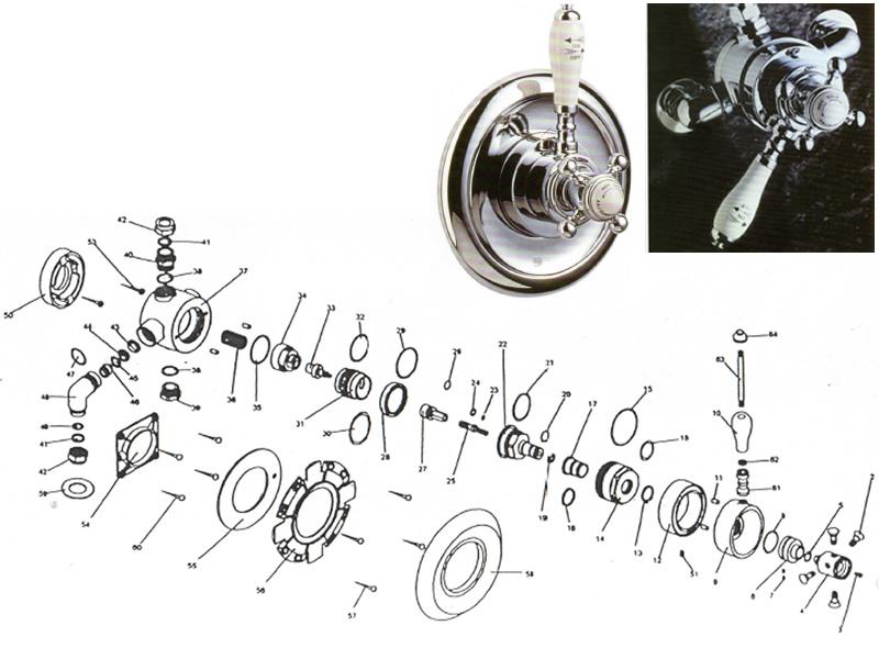 Sirrus Duelle Rennaisance dual thermostatic shower valve shower ...