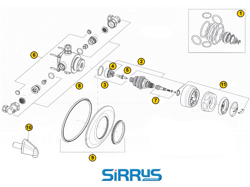 Sirrus Stratus TS1875CCP (1996-2012) shower spares and parts ...