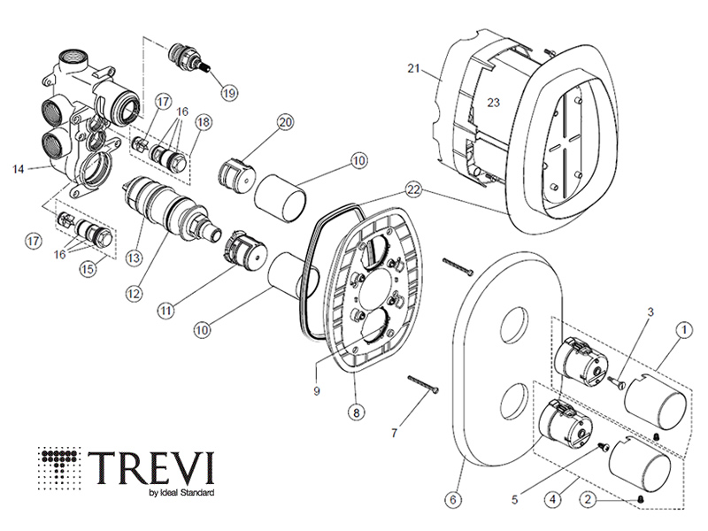 Shower spares for Trevi Boost MK2 Built-in A5700AA | Trevi Boost ...