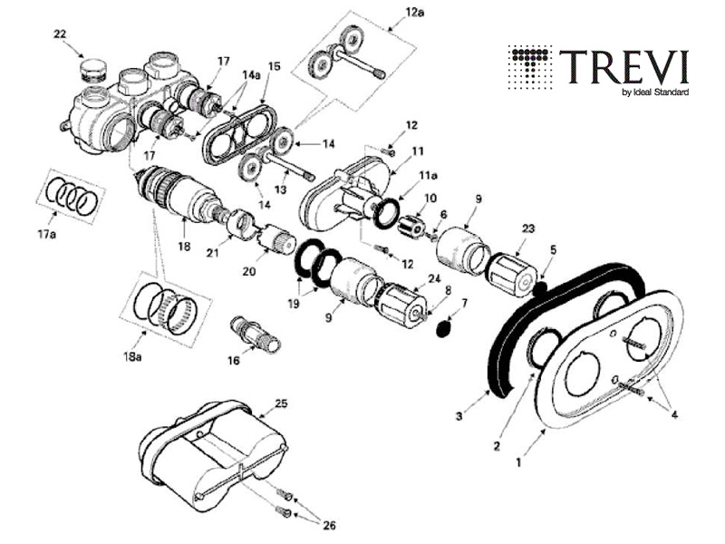 Trevi boost thermostatic shower cartridge