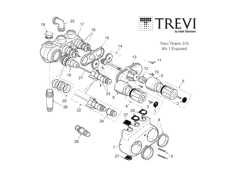 Trevi therm shower spares