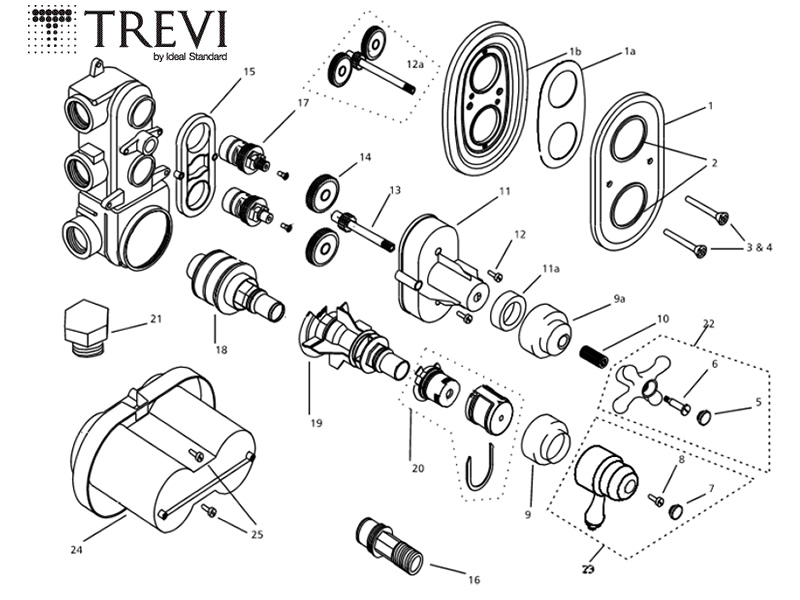 Moen T2442cp Tub And Shower Faucet Parts C 143601 144220 144425 in addition Diverter Valve Diagram besides Grho 006 moreover Grohe mixer valve 34954 000 34954 000 moreover Toilet Flapper Valve Diagram. on bathtub valve replacement