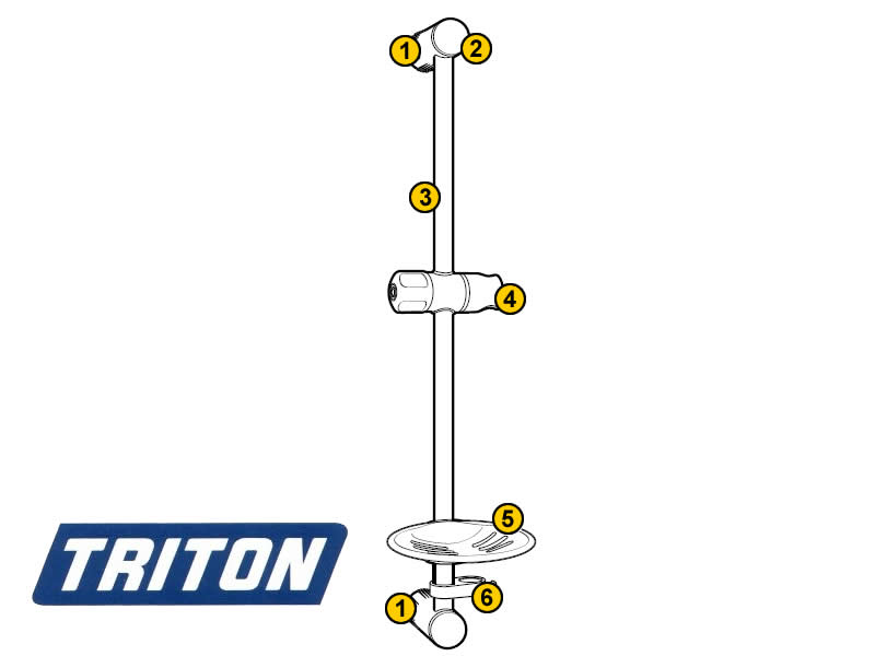 Triton Aaron shower rail set shower spares and parts   Triton ...