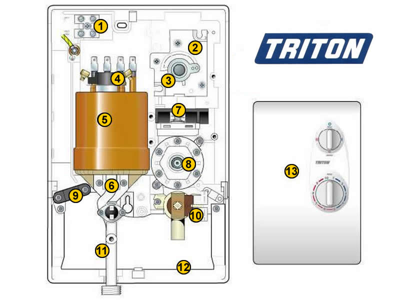 Triton Ivory Shower Spares And Parts Triton Ivory