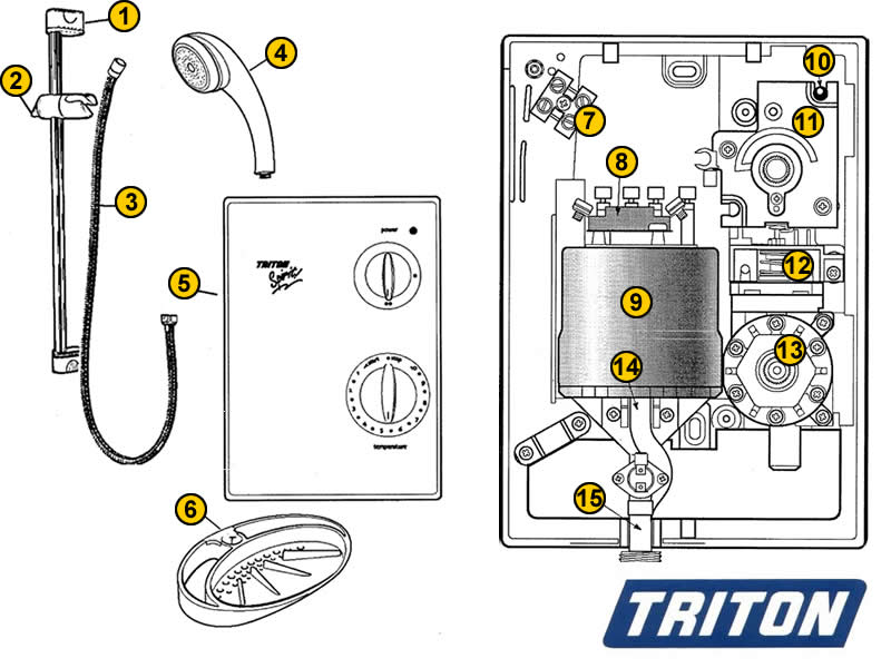 Shower Spares For Triton Madrid