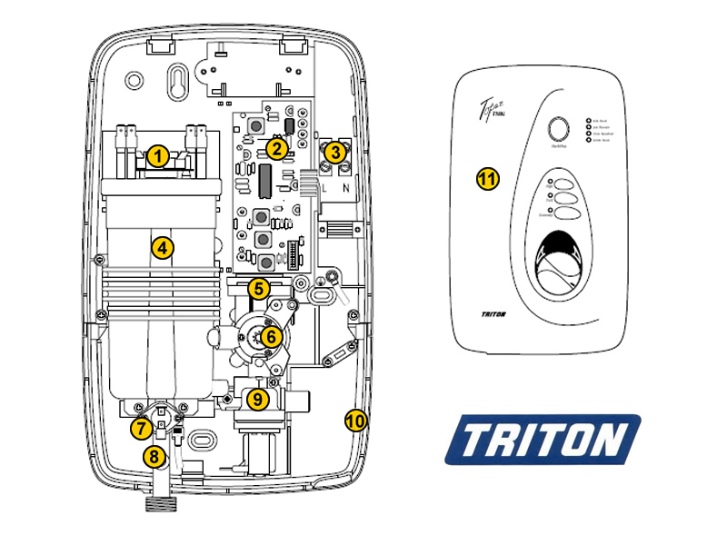 triton topaz t100i topaz t100i shower spares and parts triton triton topaz t100i topaz t100i shower spares breakdown diagram