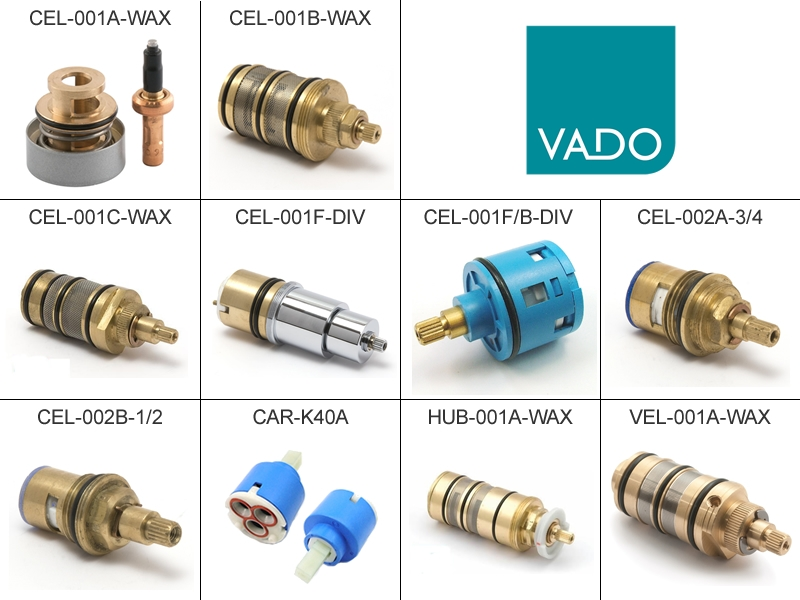 vado thermostatic ceramic diverter flow cartridges shower spares and