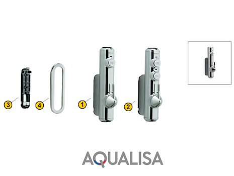 Aqualisa Axis Digital Concealed (Axis Digital) spares breakdown diagram