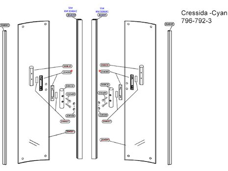 Daryl Cressida 796 version 2 spares breakdown diagram