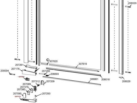 Daryl Iana 141  700 and 762mm lower half view spares breakdown diagram