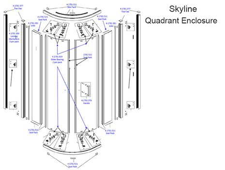 Daryl Skyline quadrant spares breakdown diagram