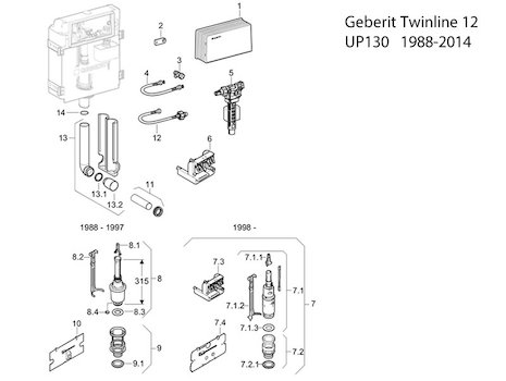 Geberit shower spares geberit spare parts national for Geberit technical support