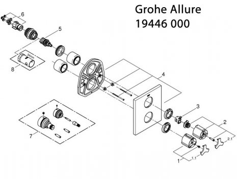 Grohe Shower Spares | Grohe Spare Parts | National Shower Spares