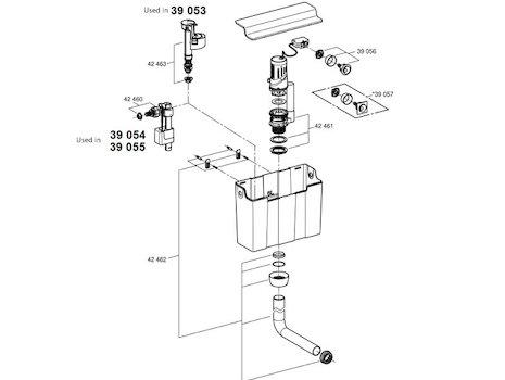 grohe outlet flush pipe grohe 42462 000 national shower spares. Black Bedroom Furniture Sets. Home Design Ideas