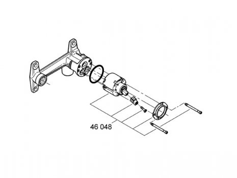 Grohe single lever wall mounted basin filler (33769 000) spares breakdown diagram