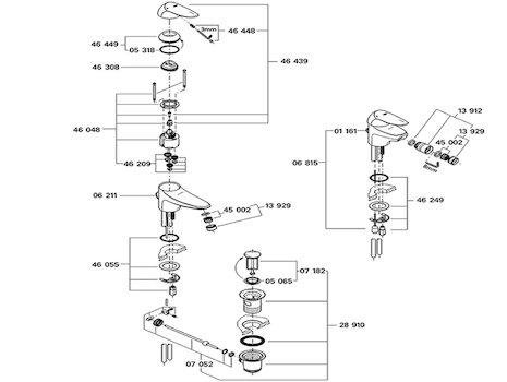 grohe 33190 eurodisc mono basin mixer tap shower spares. Black Bedroom Furniture Sets. Home Design Ideas
