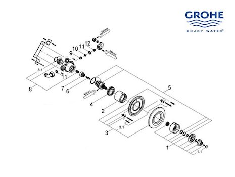 Showthread besides Grohe Spare Parts additionally Index together with Grohe Shower Valves also Grohe all. on grohe grohmix shower parts replacement