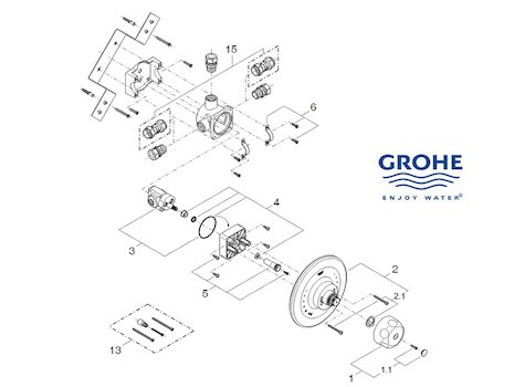 Grohe Grohsafe recessed shower  - 35235 000 (35235 000) spares breakdown diagram