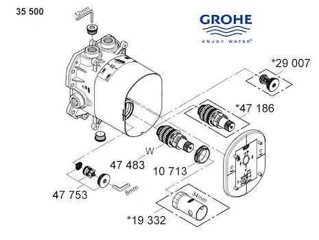 Replacing American Standard Kitchen Faucet Cartridge in addition T13h332 also American Standard Shower Valve Diagram likewise Rv Faucet Diagram likewise Bristan inlet filter assembly filt 08410. on shower diverter valve diagram