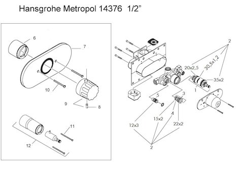 Hansgrohe Shower Spares Hansgrohe Spare Parts National Shower Spares
