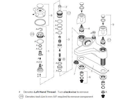 Meynell Virtuoso Bonus CD bath shower mixer (PEBS0025.1P) shower spares breakdown diagram