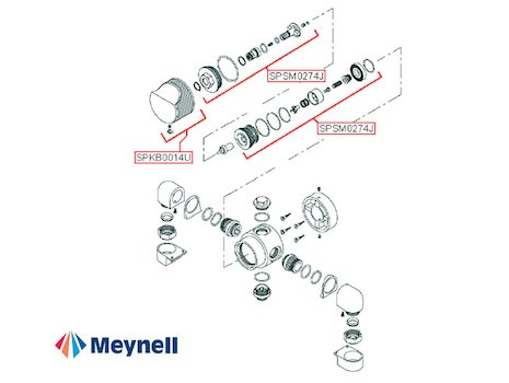 Meynell Victoria Exposed (Victoria) spares breakdown diagram