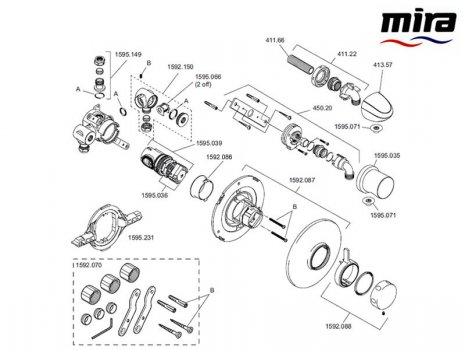 Mira Select (2007-current) BIR (1.1592.007) spares breakdown diagram