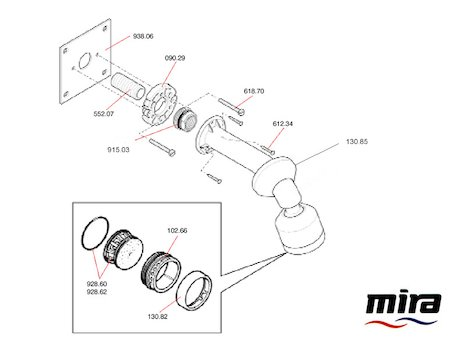 Mira 310 BIR spares breakdown diagram