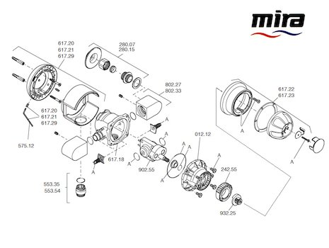 Mira 415 (2001-2004) spares breakdown diagram
