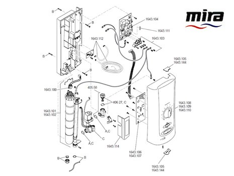 Mira Advance ATL (2007-2010) spares breakdown diagram
