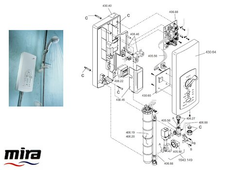 Mira Advance Flex (1999-2003) spares breakdown diagram