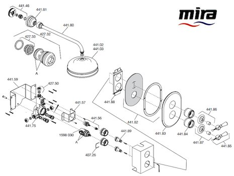 Mira Crescent spares breakdown diagram