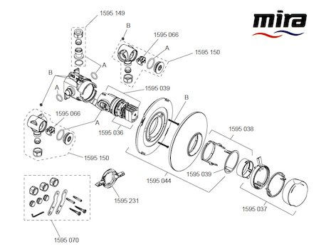 Mira Discovery BIR Concentric (1.1595.003) spares breakdown diagram