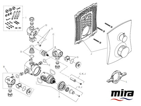 Mira Discovery Dual B (2005-current) (1.1609.002) spares breakdown diagram