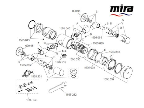 Mira Discovery EV Concentric (1.1595.001) spares breakdown diagram