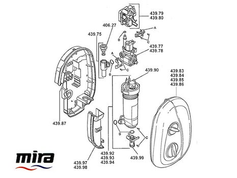 Mira Essentials Electric (2004-2007) spares breakdown diagram