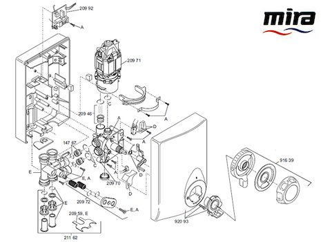 Mira Event Manual (1996-2002) spares breakdown diagram