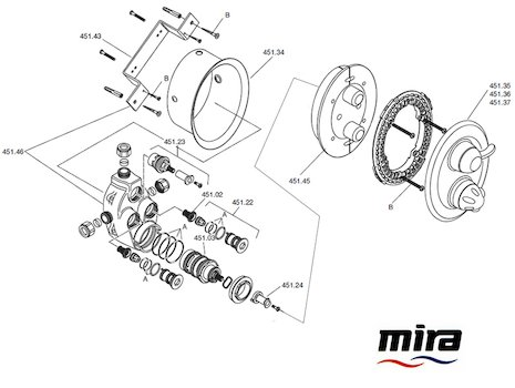 Mira Fino B (2002-2009) spares breakdown diagram