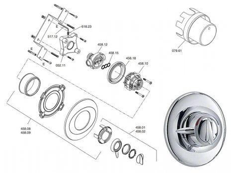 Mira Gem 88 BIR (1557.005) spares breakdown diagram