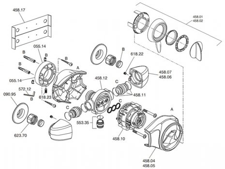 Mira Gem 88 EV (1557.001) spares breakdown diagram