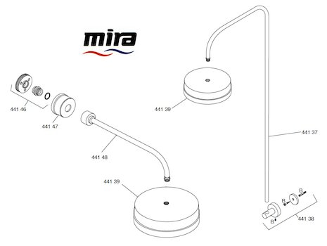 Mira Mode Fittings spares breakdown diagram