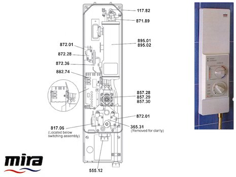 Mira Supreme (1988-1995) spares breakdown diagram