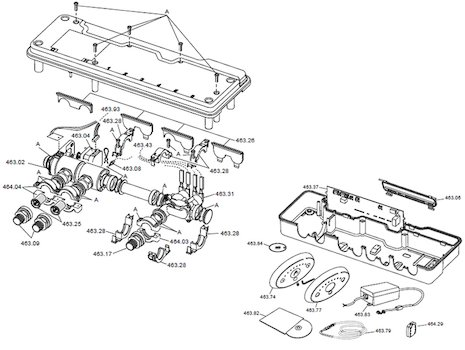 Rada Sense shower T3 (1503.682) shower spares breakdown diagram