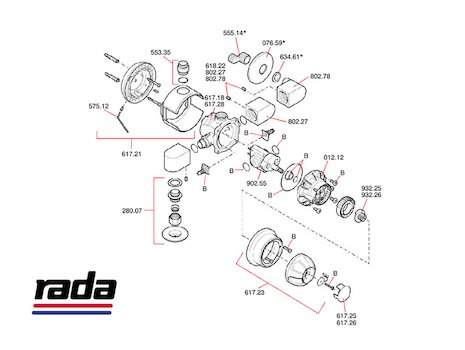 Rada 415 Exposed (415) shower spares breakdown diagram