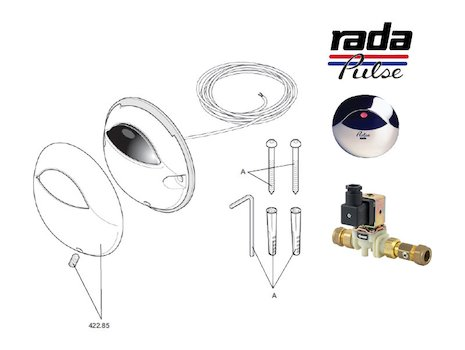 Rada Pulse 120 Shower Operating System (1.1495.063) shower spares breakdown diagram